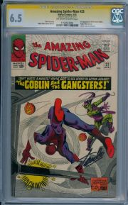 Amazing Spider-man #23 CGC 6.5 Signature Series Signed Stan Lee 3rd Green Goblin Marvel comic book
